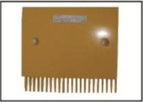 Żółty grzebień stopnia Schindler 9500 – SLR266479, Firma Paw-Lift z Łodzi